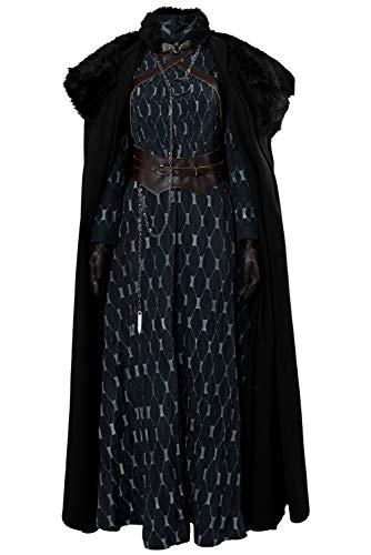 MingoTor Game of Thrones 8 Sansa Stark Outfit Disfraz Traje de Cosplay Ropa Mujer XXXL