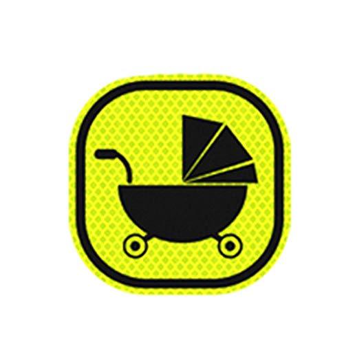 Autocollants réfléchissants, autocollants de voiture décoratifs, corps lumineux, bandes anti-collision, égratignures, autocollants personnalisés (Color : 3)