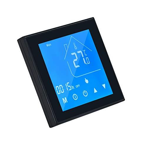 OWSOO Termostato WiFi per Caldaia Intelligente,Regolatore di Temperatura Display LCD,Settimana programmabile per Caldaia Acqua/Gas Controllo App Tuya Compatibile con Alexa Google Home