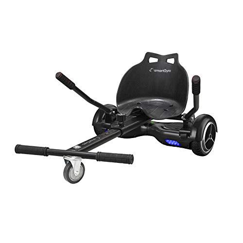 SMARTGYRO Go Kart Pro Black - Asiento Kart para patín eléctrico, Convierte tu Hoverboard en un Kart, Universal, Color Negro 🔥