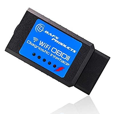Bafx Products Wireless WiFi OBD2 / OBDII Code Reader & Scanner for iOS Devices (iPhone, iPad) Read & Clear Your Check Engine Light & More! from BAFX Products