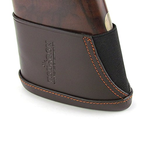 TOURBON Hunting Vintage Genuine Leather Shotgun Stock Adjustable Recoil Pad (Large Size)