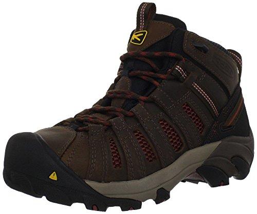 KEEN Utility Men's Steel Toe Flint Mid Work Boot, Slate Black/Burnt Henna, 11 D(M) US