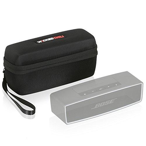 Wicked Chili Tasche für Bose Soundlink Mini 2 Lautsprecher/Bluetooth Speaker Hardcase Hülle (Passgenaues Case mit Fach für Netzteil und Zubehör) schwarz/Black