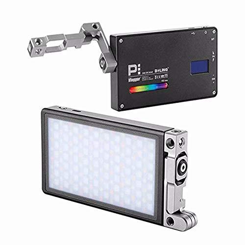 BOLING BL-P1 RGB LED Video licht für Kamera-Camcorder Wiederaufladbares Videolicht im Taschenformat mit 2500-8500k,9 gängige Szenariosimulationen mit Premium-Aluminiumlegierungsgehäuse