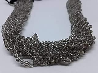 Jewel Beads Natural Beautiful jewellery Smokey Plain Round Beads, 3mm, 13 Inches Long Strand, Pack Of 2 StrandCode:- JBB-21601