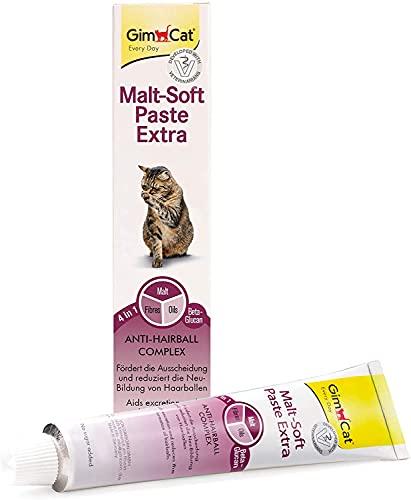 GimCat Malt-Soft Paste Extra - Anti-Hairball Katzensnack fördert Ausscheidung von Haarballen - 1 Tube