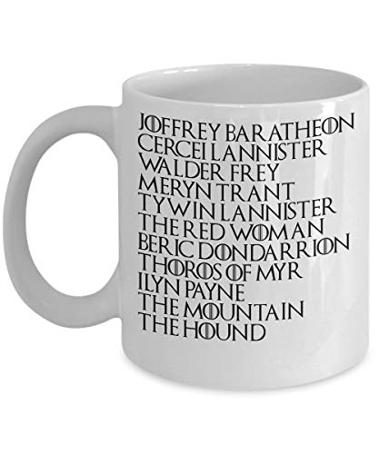 Personalized Mug Arya Stark Kill List Game of Thrones Arya Stark is The Perfect Game of Thrones Merchandise Arya Stark Kill List Game of Thrones