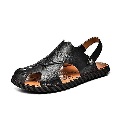 Las Sandalias Del Verano De Los Hombres Abren Los Zapatos Que Caminan Los Deportes Al Aire Libre De La Playa Del Dedo Del Pie