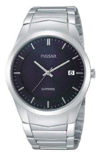 Pulsar Quarz Herren-Uhr Edelstahl mit Metallband PS9131X1