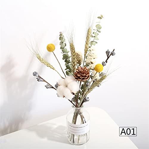 LJLWX Bouquet de Bouquet séché Naturel Vase Daisy Sunflower Anniversaire Noël Sac Cadeau Photo Accessoires Décoration de la Maison Non Soumis à des restrictions saisonnières nera pa