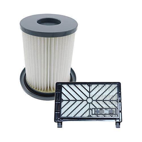 ZRNG Accesorios de aspiradora de 2 unids Filtros HEPA + Elemento de Filtro de 12 cm Fit for Philips FC8712 FC8714 FC8716 FC8720 FC8722 Filtro HEPA La instalación es Simple y fácil de Usar.
