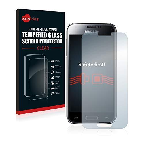 Savvies Panzerglas kompatibel mit Samsung Galaxy S5 Mini - Echt-Glas, 9H Härte, Anti-Fingerprint