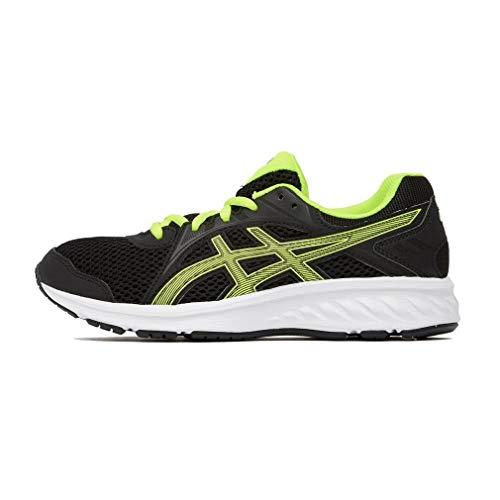 Asics Jolt 2 GS, Zapatillas de Running Unisex Niños, Negro (Black/Safety Yellow 003), 35.5 EU