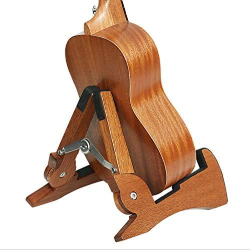 Gitarrenständer,ONEgenug Holz Gitarrenhalterung Anti-Rutsch Musikinstrument Ständer klappbar mit Schwammmatte für E-Akustik-Bassgitarre/Ukulele/Violine/Mandoline/Banjo