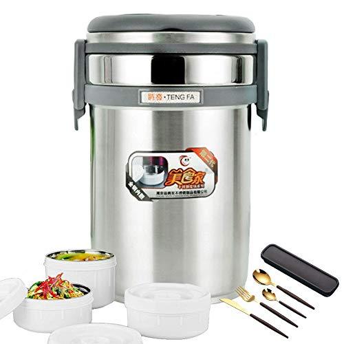 Thermobehälter Lunchbox,Edelstahl Isolierbehälter | Food Jar | Speisebehälter für Essen | Speisegefäß | Essensbehälter,2.0L