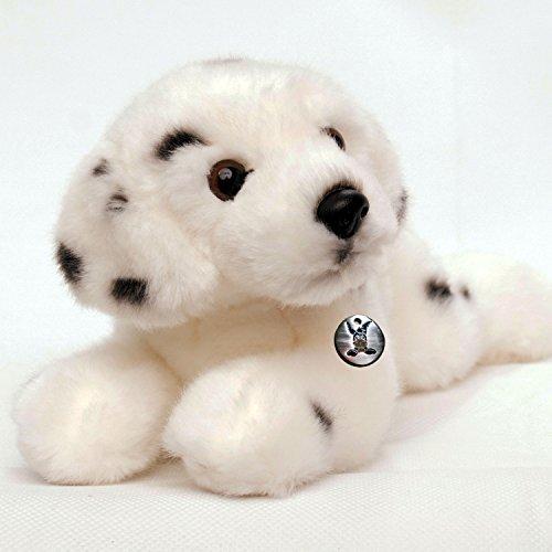 Kuscheltiere.biz Dalmatiner Welpe KLEO liegend Plüschtier 25 cm Plüschhund