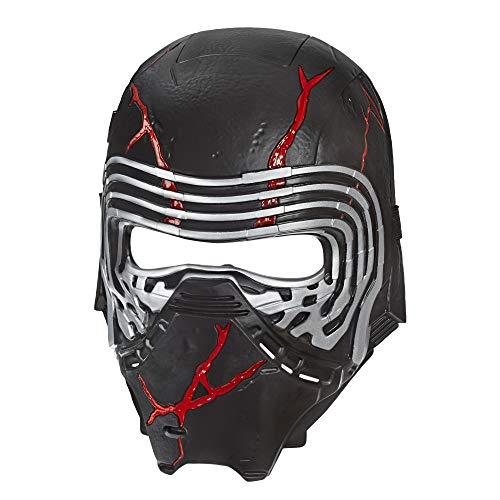 Star Wars: The Rise of Skywalker Supreme Leader Kylo Ren Force Rage Electronic Mask for Kids Role-Play & Costume Dress Up, Brown