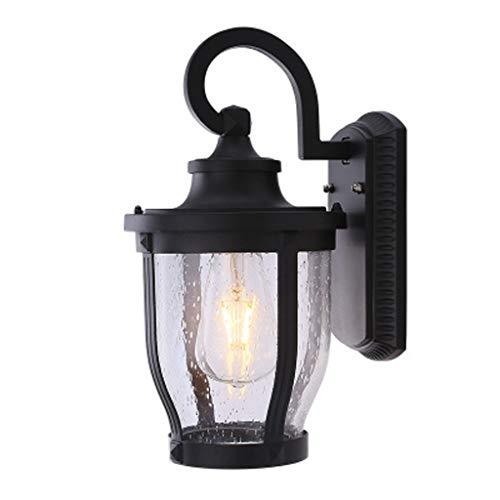 Led-buitenwandlamp, waterdichte Europese tuinverlichting voor buiten, gemeenschappelijk villa, balkon, binnenverlichting, zwart