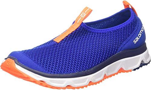 Salomon RX Moc 3.0, Zapatillas de Senderismo Hombre, Azul Oscuro/Naranja (Surf The Web/White/Shocking Orange), 40 2/3