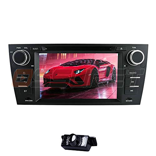 Android 10 Car Stereo GPS Navigation BT Single DIN Vehicle Reproductor de DVD/CD con Enlace Espejo Wi-Fi / 4G SWC DVR OBD2 Dab + Se Adapta a BMW Serie 3 E90/E91/E92/E93 2006-2012