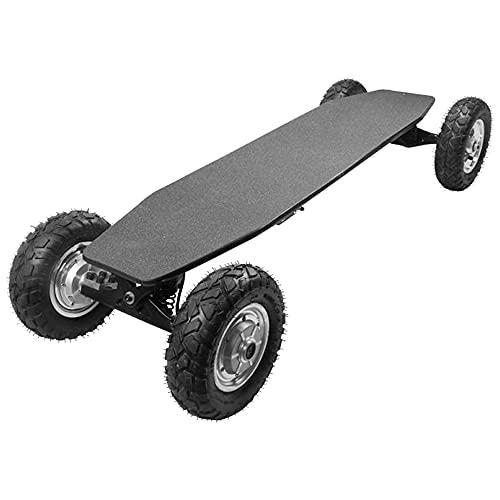 TGHY Skateboard de Montaña Eléctrico 40km/h Alcance de 20km Motor Dual de 1650W Arce de 9 Capas Control Remoto Neumático Todoterreno de 9' Monopatín Eléctrico Todoterreno para Jóvenes y Adultos