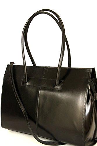 Zarolo Leder Damen Tasche, Business- / Akten-/ Laptoptasche mit Schulterriemen Italy Mod.2026-p
