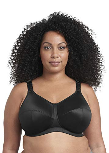 Goddess Women's Plus Size Celeste Soft Cup Full Coverage Wireless Comfort Bra, Black, 34N