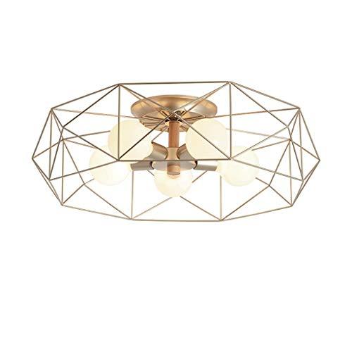 Kiki plafondlamp E27 Nordic Creative ster met vijf takken plafondlamp binnen smeedijzeren plafondlamp slaapkamer woonkamer plafondlamp