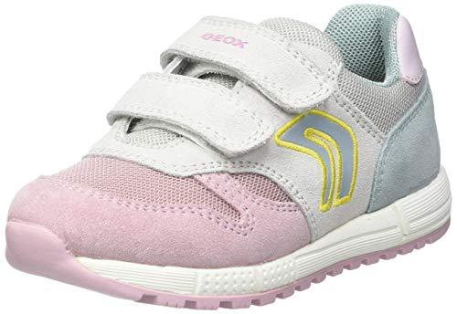 Geox B ALBEN Girl A, Zapatillas Bebé-Niñas, White/Rose, 22 EU