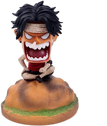 ZJZNB Sitzhaltung Ace Bandage Ace wütend Anime Figur Modell Spielzeug Figuren Statue Dekoration