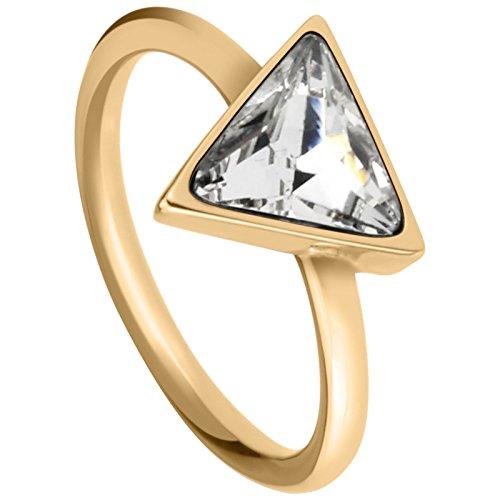 Tamaris Jewelry Sandy Ring Edelstahl vergoldet mit Glasstein RG 56 A0711102-5