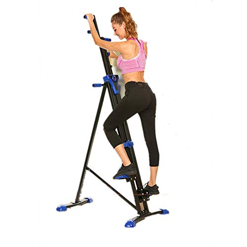Flyerstoy Vertical Climber Cardio Exercise - Folding Exercise Climbing Machine,Total Body Workout Climber Machine for Home Gym, Exercise Bike for Home Body Trainer (Blue)