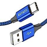 Câble USB Type C, AVIWIS [Lot de 2, 2M] Câble USB C en Nylon Tressé Charger Rapide pour Samsung...