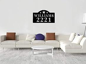 Gepersonaliseerd welkomstbord familie metalen aangepast adres teken, adres plaque, huisteken, huisnummers, huisadres borde...