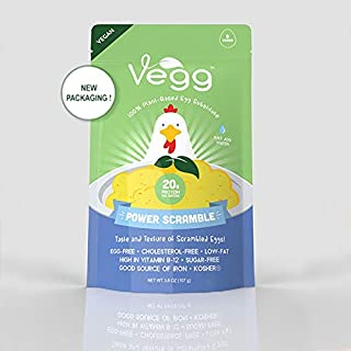 The Vegg Power Scramble   Gluten Free and Vegan Cooking   Vegan Food Products   Taste And Texture Of Scrambled Eggs   3.8 Oz (108g)   Equivalent to 8 Eggs