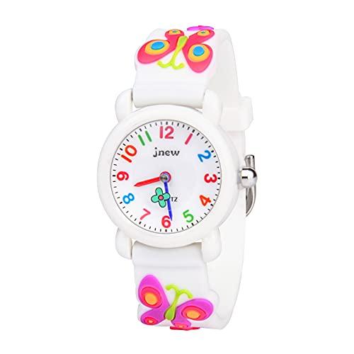 Vicloon Reloj de Infantil, Reloj de Pulsera Analógico para Niños Niña, Pulsera de Silicona Suave para niños, Relojes de Cuarzo Niños, Reloj para Niña Fácil de Leer y Aprender Las Horas