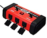 200W Car Power Inverter 12V DC to 110V AC Converter with 2 Dual USB Ports and 3 AC Socketsrger