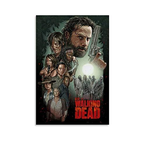 ZUNZUN Walking Dead Fan Art Poster pintura decorativa lienzo pared sala de estar póster dormitorio pintura 50 x 75 cm