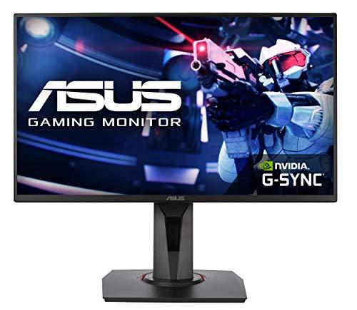 ASUS VG258QR Monitor de juegos de Esports de 25 pulgadas (24.5 pulgadas) FHD (1920 x 1080), 0.5 ms, hasta 165 Hz, DP, HDMI, DVI-D, bisel súper estrecho, FreeSync, luz azul baja, sin parpadeo