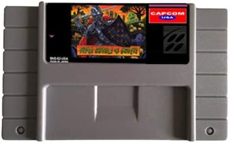 Aditi Super Ghouls N Ghosts 16 bit Big Gray Game Card For USA NTSC Game Player product image