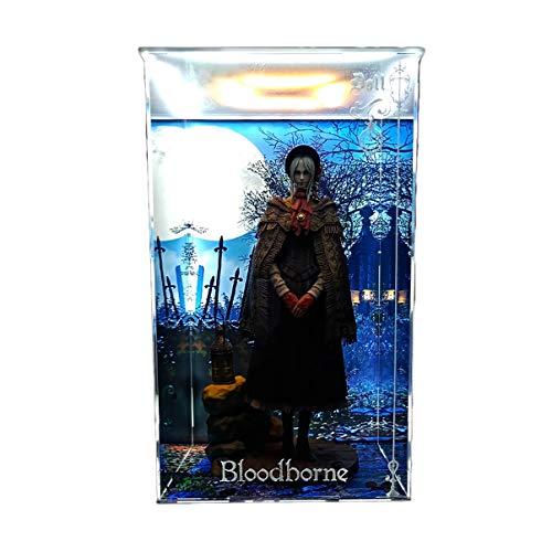 SNH Gecco Bloodborne Cursed Blood muñeca Cementerio Vampiro Modelo acrílico Marco de la exhibición Caja de luz LED Hecho a Mano de PVC Figura Modelo GK Display Box Cover Polvo