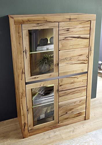 Main Möbel Highboard Schrank Wildeiche Eiche 95x150cm massiv geölt Holz Neu OVP!!!
