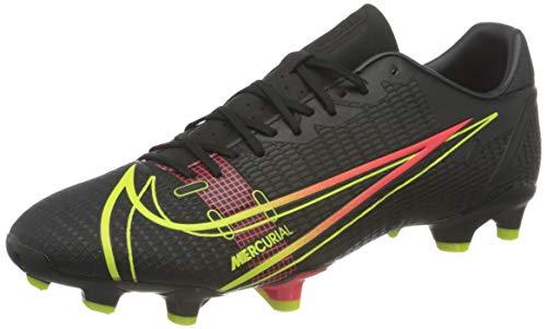 Nike Vapor 14 Academy FG/MG, Scarpe da Calcio Unisex-Adulto, Black/Cyber-off Noir-Rage Green-Siren Red, 44 EU