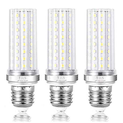 YIUN E27 LED bougie ampoules, LED 20W Candelabra Ampoules 150 watts équivalent, 1800lm, Blanc froid 6000K, Bougie décorative E27, Non graduables, Pack 3
