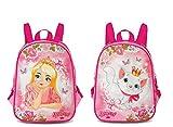 Kinderrucksack Kindergartentasche Kindergartenrucksack Rucksäcke Motiv Little Princess und Katze - mit Zwei Motiven beidseitig tragbar - für Kindergarten oder Kita