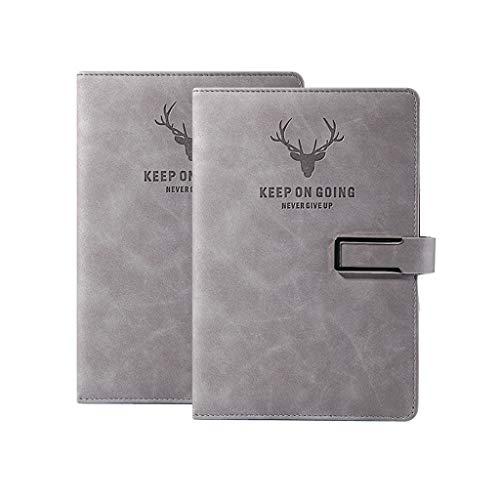 SFF Cuadernos de Oficina PU de Cuero de imitación de Negocios Hardcover Notebook Moda Escritura Notebook Bloc de Notas fácil Viajar por tamaño A5 Hojas en Blanco Cuaderno de Tapa Blanda