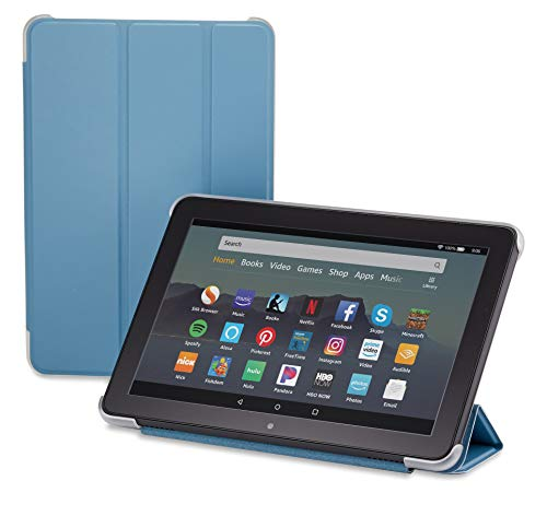 Nupro Tri-fold Standing Case for Fire HD 8 Tablet, Twilight Blue (10th Gen, 2020 Release)