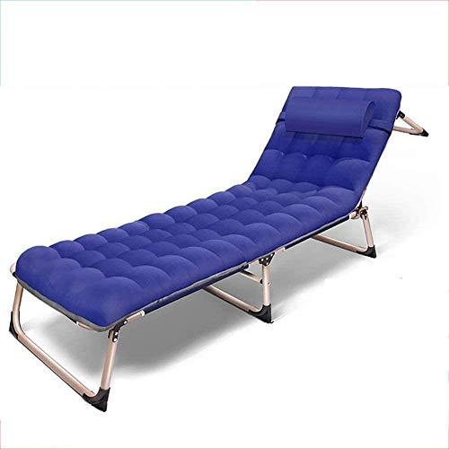 Kniestühle Reclining Sun Lounger Folding Sofa Einzelbett Büro Bett Bett, Outdoor-Camping-Bett, Strandliege, Last 150 kg, Länge 193 cm xiuyun