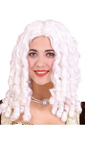 Guirca weiße Barock Marquise Perücke für Damen Korkenzieher Locken Herzogin Mittelalter
